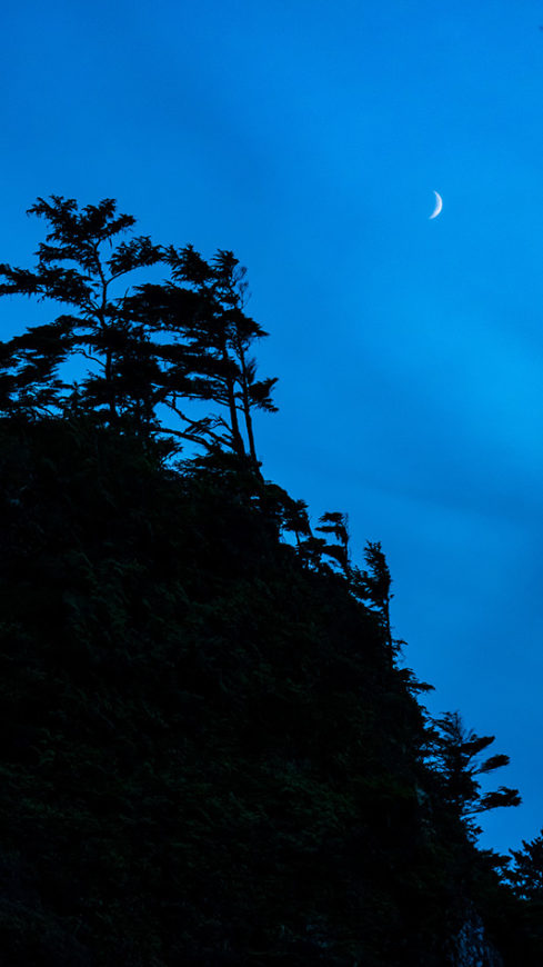 Crescent Moon over the Island